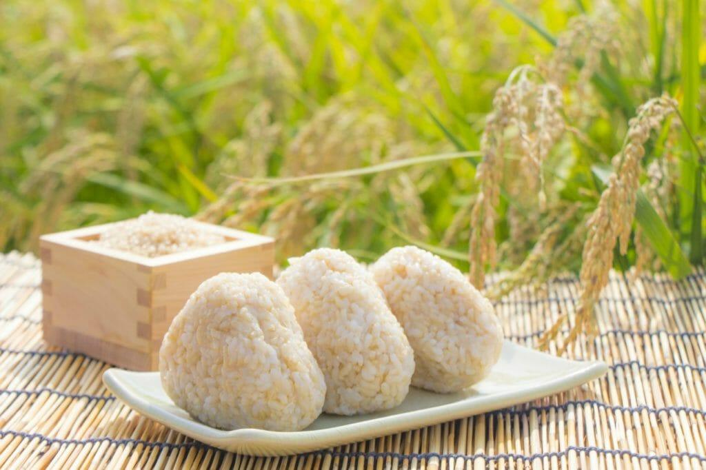 世界遺産の「和食」を代表する食事。お米と玄米
